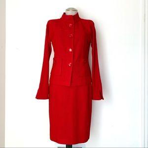 ST JOHN NWT Knit Skirt Set Red Size 4